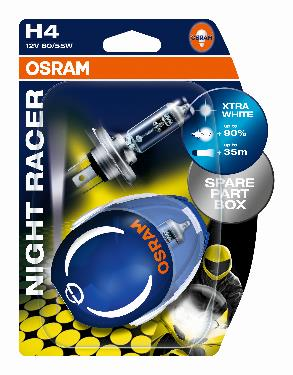 Крушки- OSRAM H4 12V 60/55W NIGHT RACER PLUS К-КТ 2БР